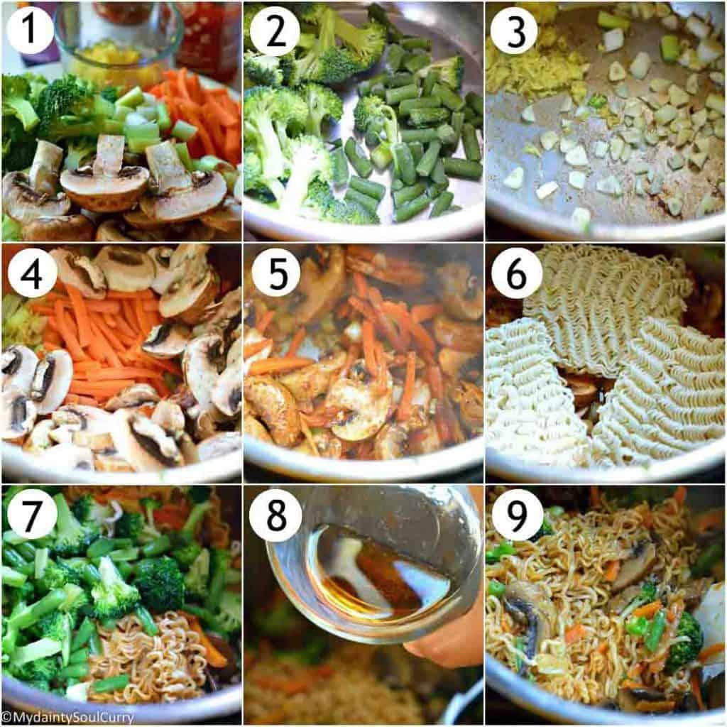 how to make instant pot hakka noodles