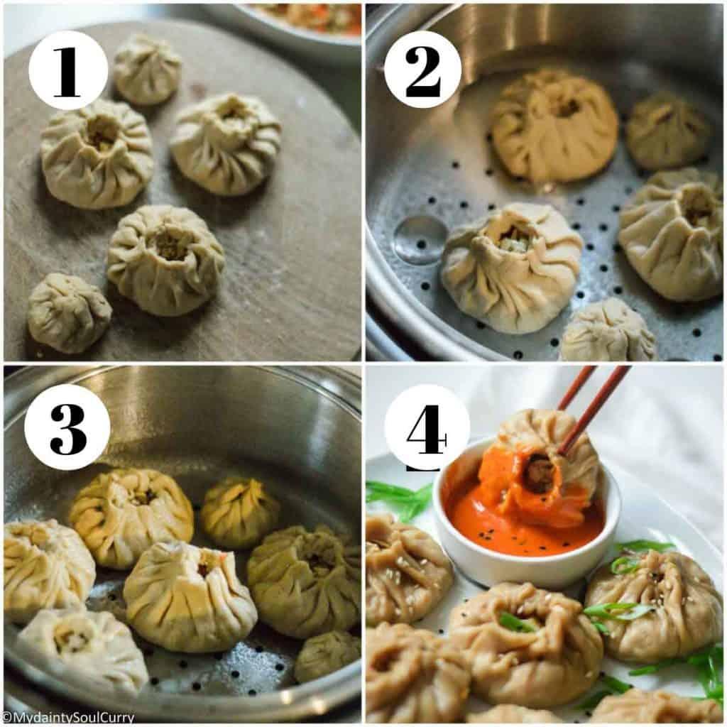steam the dumplings