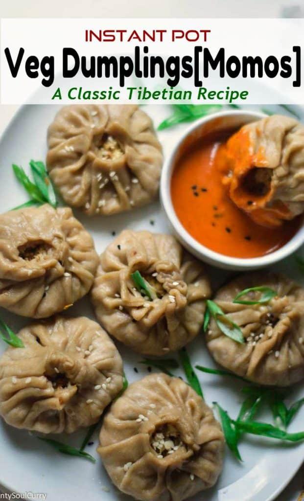 Instant pot veggie steamed dumplings