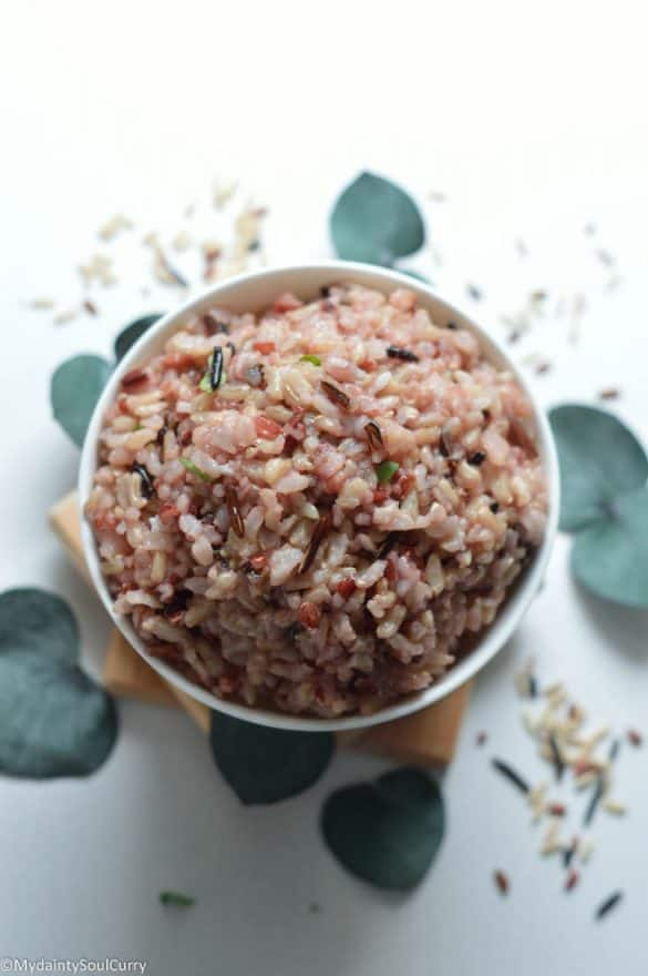 Cooked instant pot wild rice
