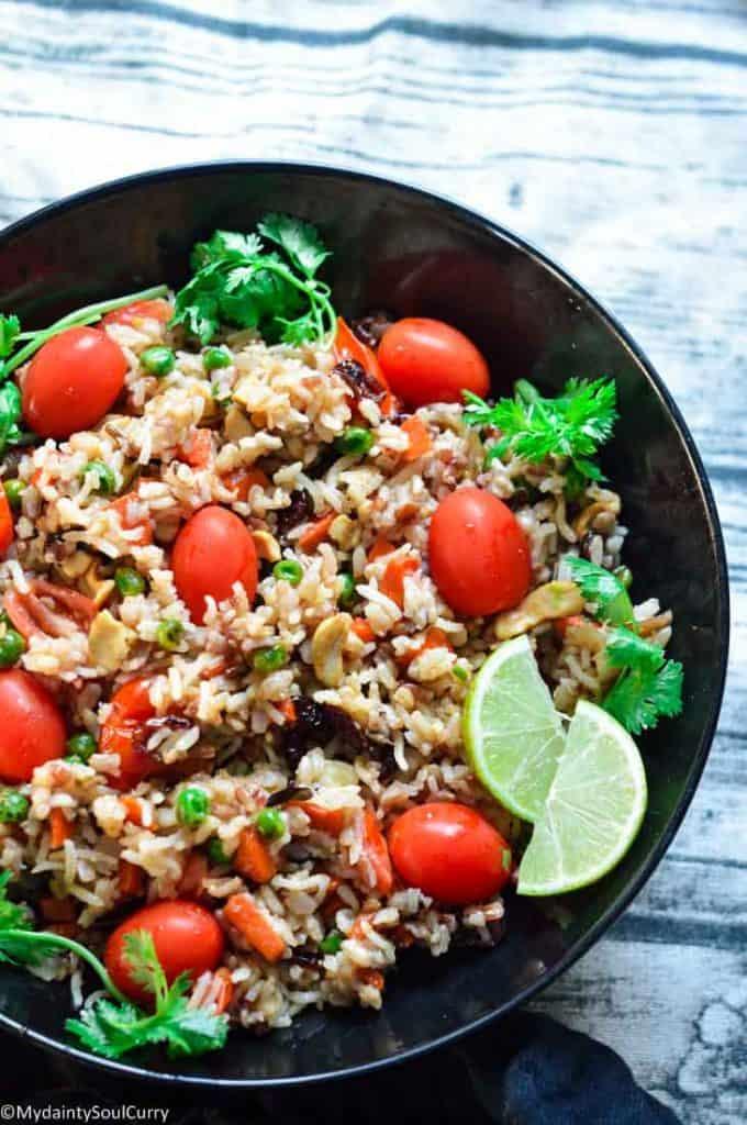 Delicious wild rice pilaf