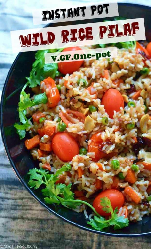 Wild rice pilaf in the instant pot