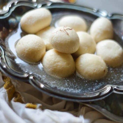 Soft and spongy instant pot rasgulla