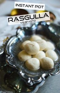 Instant pot cooked rasgulla pin