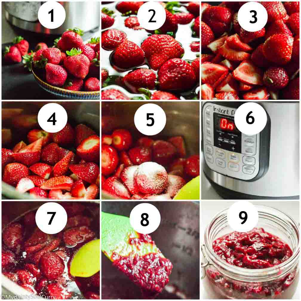 Steps to make instant pot strawberry jam no sugar