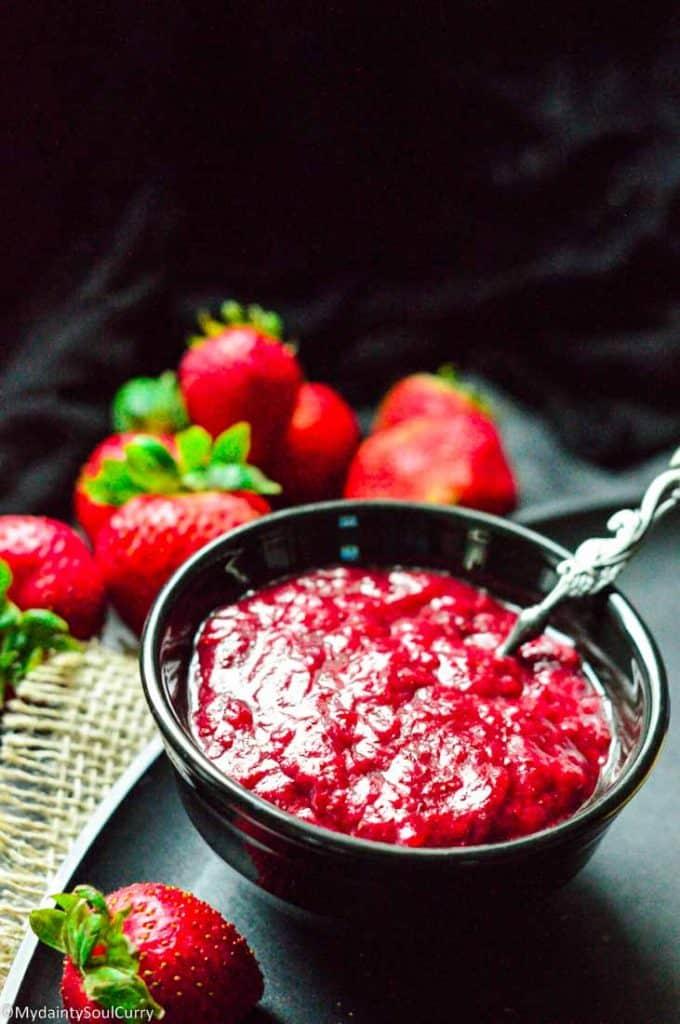 Easy instant pot strawberry jam no sugar