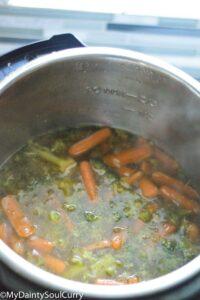 Pressure cooked broccoli soup