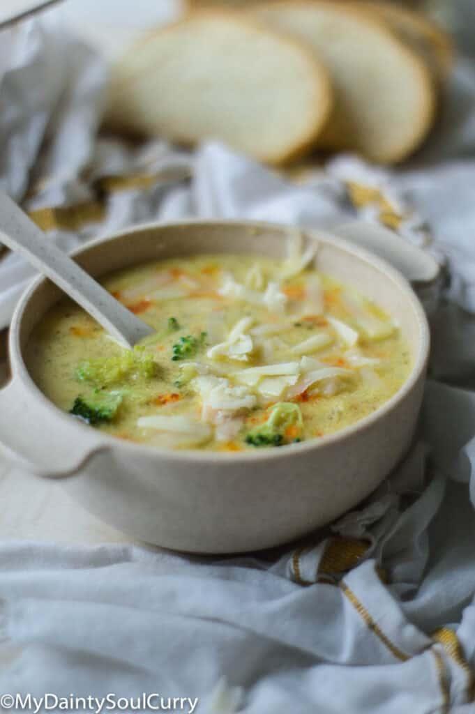 Instant pot broccoli soup