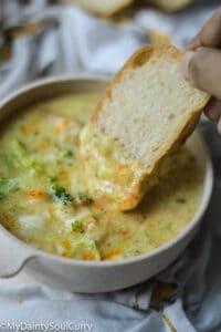 IP cheese broccoli soup