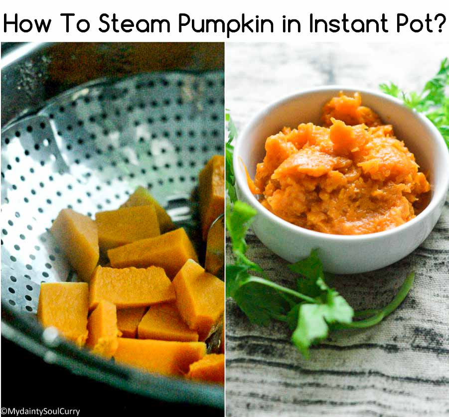 How to steam pumpkin in an instant pot