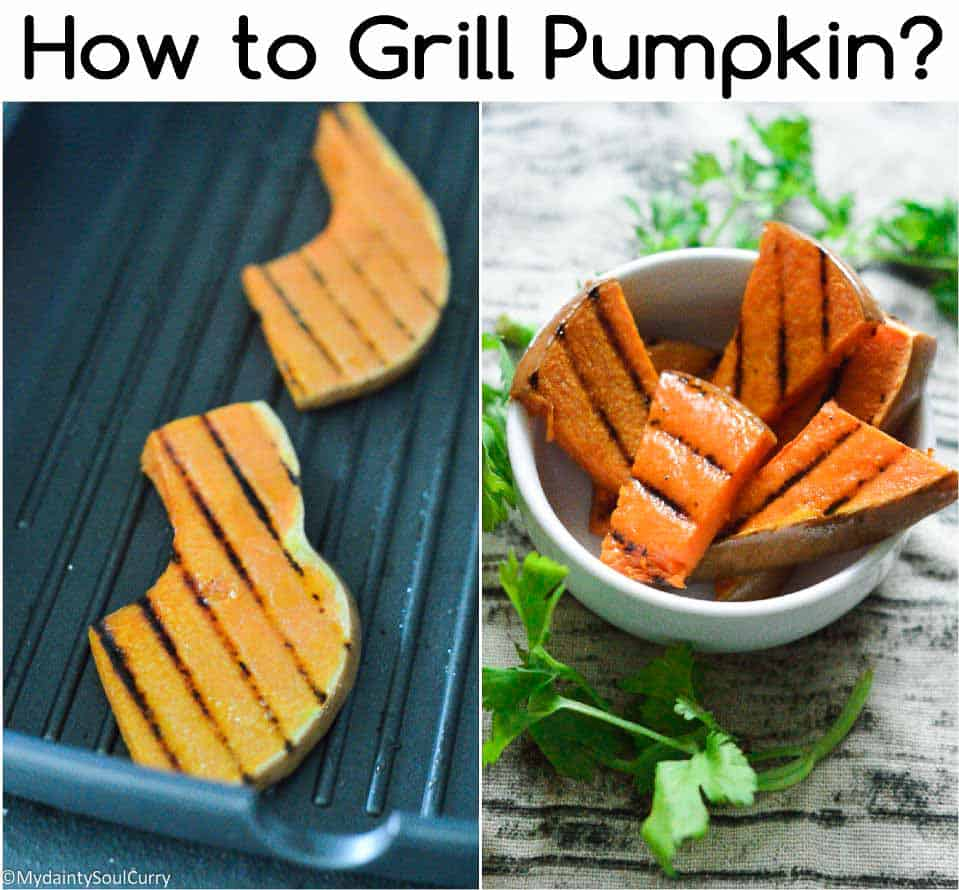 How to grill pumpkin slices