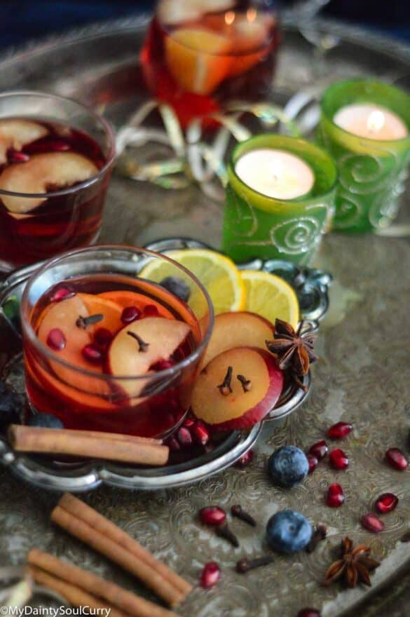 Apple and plum drink cider