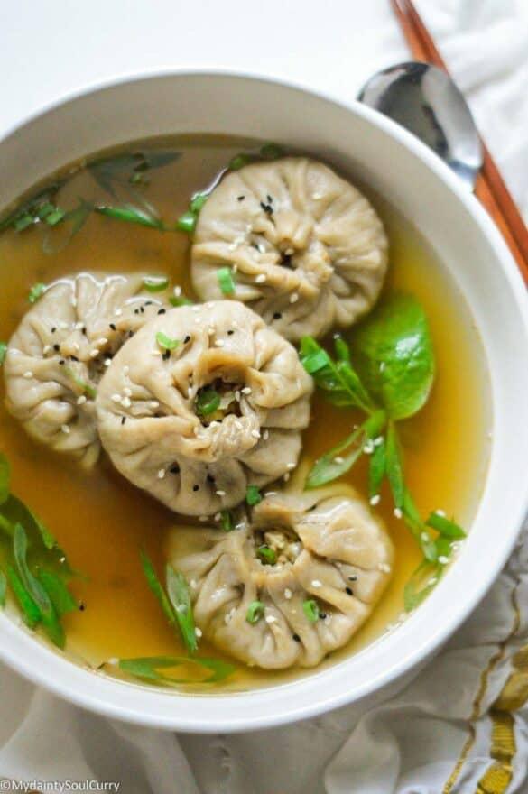 Dumpling wonton soup in instant pot