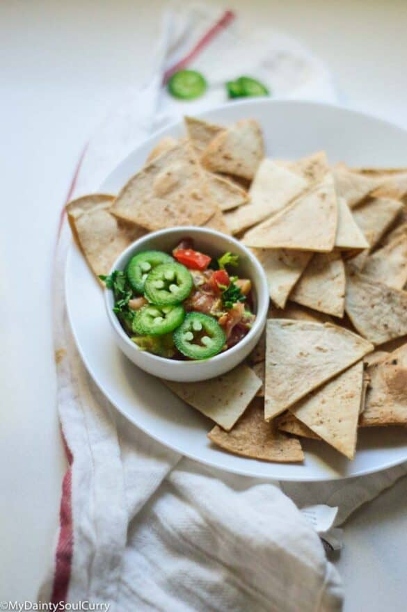 Air fried tortilla chips low carb