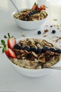 Serve granola and enjoy