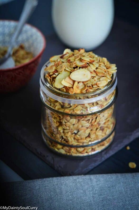 Air-fryer granola with nuts
